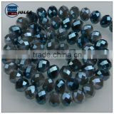 Jinhua factory glass bread Electroplating manufacture wholesale beads european style 6mm crystal beads for home decoration