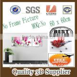 New Material PET 1.5mm No Frame Picture 3D PRINTING EFFECT PLASTIC 3D PICTURE FOR HOUSE DECORATION