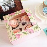 Cupcake box vintage rose small west baking cup muffin cake box pudding packaging