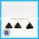Elegant indian fake black diamond jewelry crystal full set jewellery