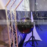 Silver or Black color 30cm/40cm /50/60cm diameter christmas hanging decorating mirror balls With Plastic or Fiberglass core