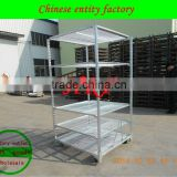 High Quality Display Flower Pot Transporting Tool Trolley cheap agricultural flower carts for sale