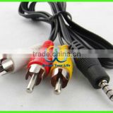 3.5mm AV A/V Audio Video TV Cable/Cord/Lead for Flip camcorder camera