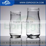 250ml 370ml wide mouth juice jam sauce glass jar with screw 63mm cap glass juice beverage bottle