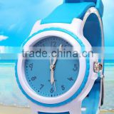 2016 China mix colorful toy kid watch candy jelly silicon child watch stainless steel back CE ROHS