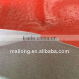 1.0 mm high quality red ostrich embossed synthetic PU leather for seat cover handbag purse etc