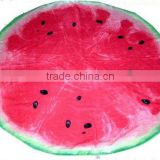 Watermelon Shaped Round Beach Towel With Printing Custom Logo