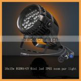 guangzhou hot sale new lighting 18x15w RGBWA+UV 6in1 led zoom par light pro outdoor stage equipment