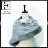 Own Design Knitting Cape with Fake Fur