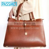 Italian handbag high quality with sleeve shoulders in soft genuine leather hand made in italy original