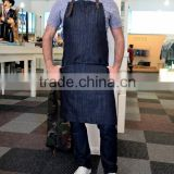 Custom high quality denim work apron heavy duty