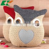 rural idyll cotton and linen hold pillow cartoon owl cushion cover creative home back cushion woolen yarn stitching