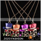 Fashion Gold Chain Jewelry Skull Face Hip Hop Pendant Necklace In halloween Party Necklace