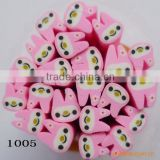 LNU-1005 Polymer clay flower nail cane & fruit canes