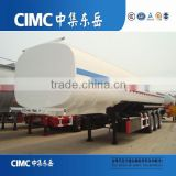 CIMC Triple Axles and Spring Suspension Diesel Fuel Tank Semi Trailer