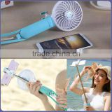 2016 trending products shenzhen aluminum mobile extension electric selfie stick with powerbank fan and light