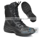 Hot sale Tactical Boots adopt waterproof nylon and cowhide leather with SGS,ISO standard suitable for army
