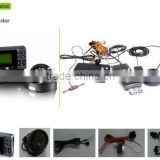 vehicle driving data recorder with GPS tracker, for fleet management, supporting vehicle camera, screen.