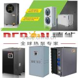 Deron Top Brand hot sales air to water, water source heat pump and cooling air conditioner
