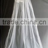 two layer floor touch bride veils/american net long veils bridal veil/wedding veil/bridal accessories 038