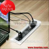 Automatic Rotating Power Data Solution with Cable Management for Office Desk