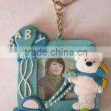 Baby soft pvc 3D photo frames with key chain