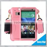 for htc one m8 case, mobile phone wallet pu leather cover case for htc one m8, cellphone case with card slot for HTC M8
