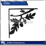 Oak Leaf Wrought Iron Wall Shelf Bracket