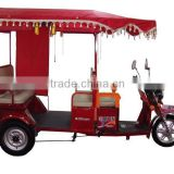 2013 Indian electric rickshaw for passengers, Tuk-Tuk, electric tricycle, battery operated rickshaw