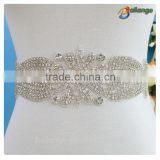 fashion dresses guipure Wedding dress Handmade beaded rhinestone trim appliques for Bride