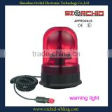 pc lens E4 approval dual voltage three bolts revolving magnetic red warning light