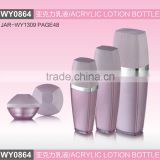 WY0864 drum tapered series acrylic bottle, special lotion bottle,80ml 120ml cosmetic bottle