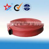 Double jacket fire hose,double coated rubber fire hose,50mm (8-20bar) china made pvc/synthetical rubber fire hose