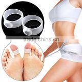 Fat Weight Loss Health Slimming Magnetic Silicon Foot Massage Toe Ring