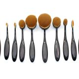 Cheap price foundation blush toothbrush makeup brush professional nylon hair black oval makeup brushes