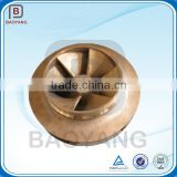 precision casting water brass centrifugal pump impeller