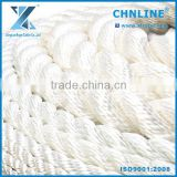6MM-60MM high tensile marine twist nylon multifilament rope for ship mooring, docking, packing, fishing