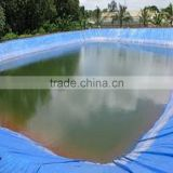 Popular blue color leakproof Cross Laminated Tarpaulin fish tank for pond