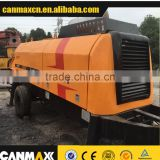 second-hand concrete trailer pump, used pump with trailer zoomlion, sany, brand for sale