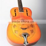one resonator cone resonator guitar, coppr alloy body resonator guitar, sunburst guitar resonator