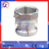 "Stainless steel camlock quick coupling, China manufacturer, Parts A B C D E F DC DP, size from 1/2"" to 6"""
