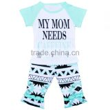 Baby clothes set newborn baby clothing letter t-shirt + pants girls two piece suit