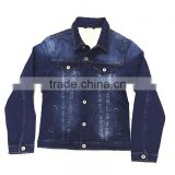 customer brand boy's classic washed denim long sleeve jacket