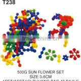500 g Sun Flower Soft Rubber Educational Building Blocks Toys For Kids