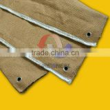 C105SV-WB 3mm Thickness Vermiculite Coated Ceramic Fiber Cloth with S.S Wire Welding Blanket