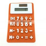 High quality Flexible Soft Silicone 8 Digits Office Calculator 5 Inch Length