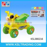 Plastic lovely caw walker baby with light and music for children