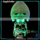 Custom party skull shaped plastic halloween led masks for sale