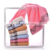 High Quality Best Seller Jacquard Border 100% Cotton face Towel