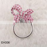 Pink bow Crystal Eye Glass magnetic clip holder NEW magnetic eyeglass holder
